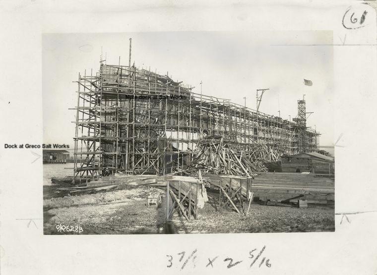 Concrete shipbuilding on Westpoint Slough on site of Westpoint Harbor